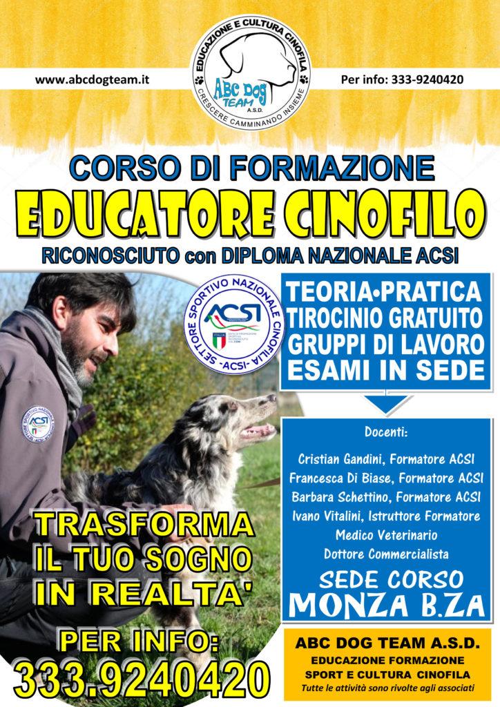 Corso per educatore cinofilo 2019