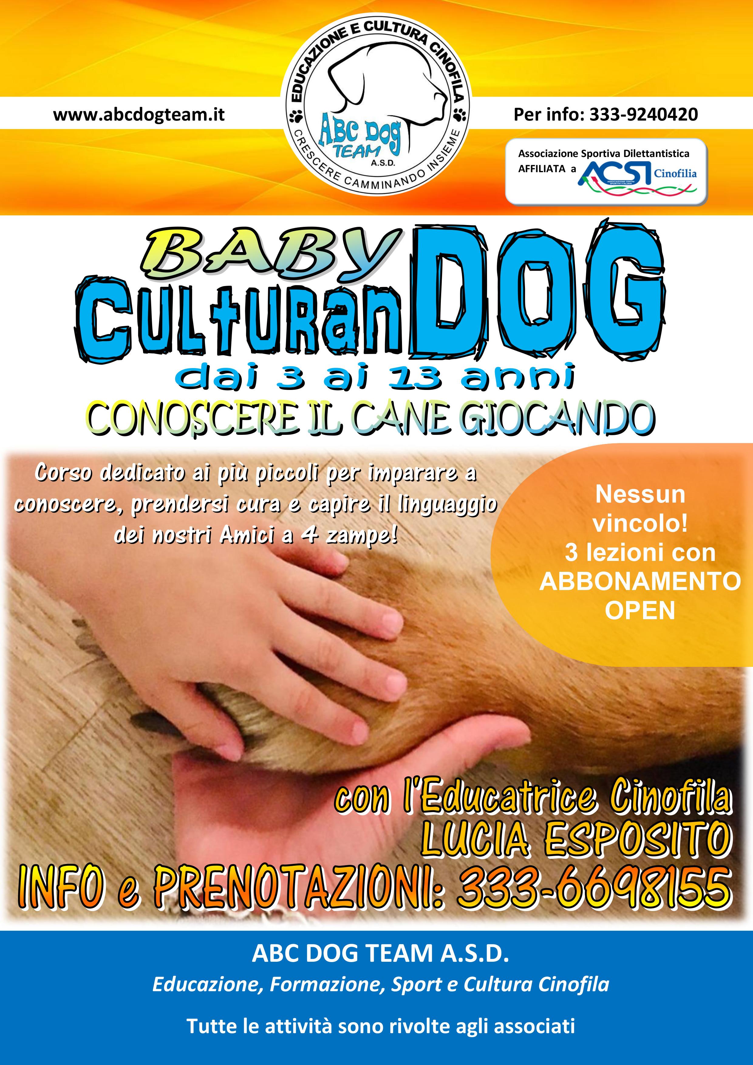 Locandina Baby CulturanDOG individuale NEW - 01.2019