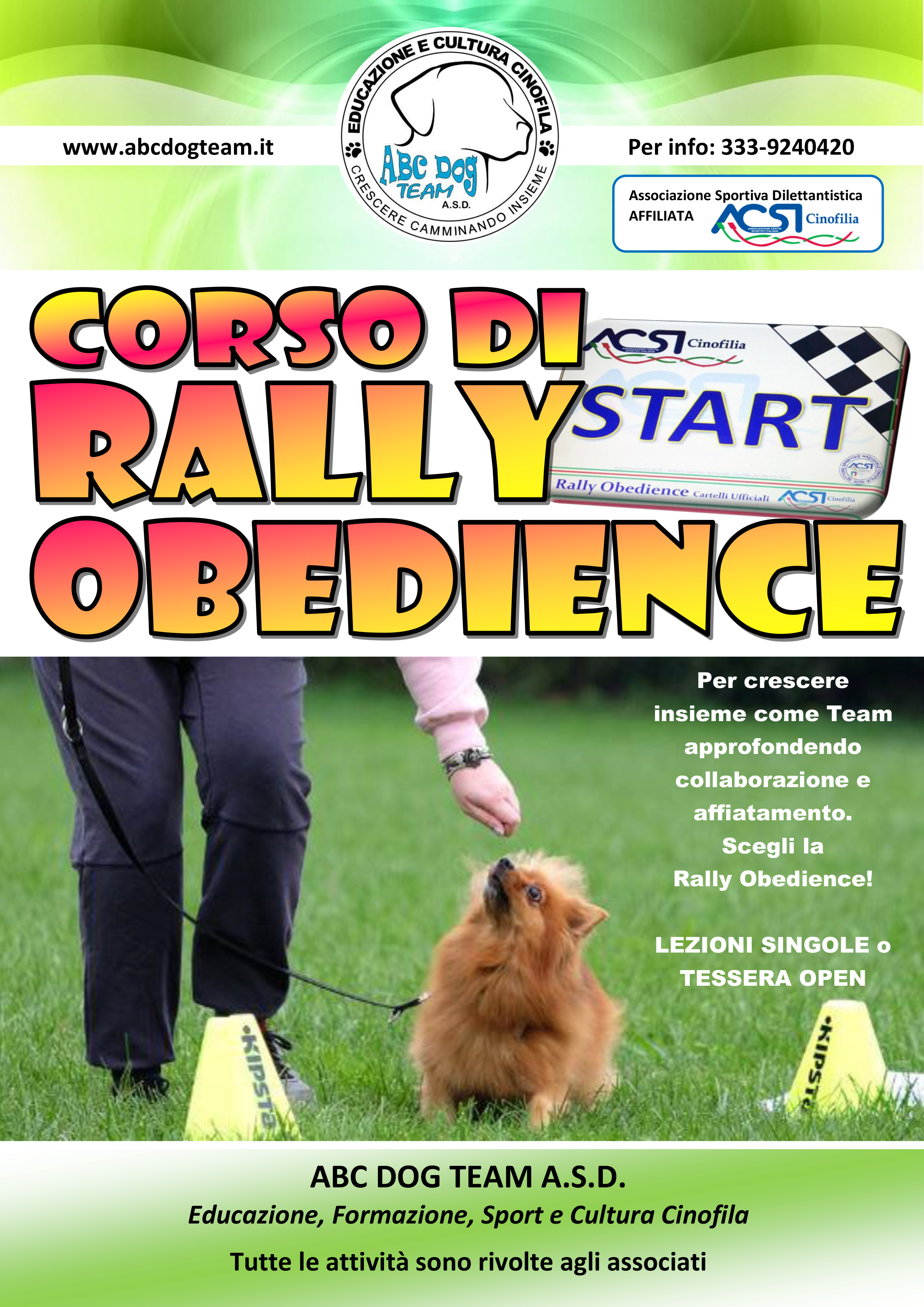 Locandina RALLY OBEDIENCE individuale 01.2019