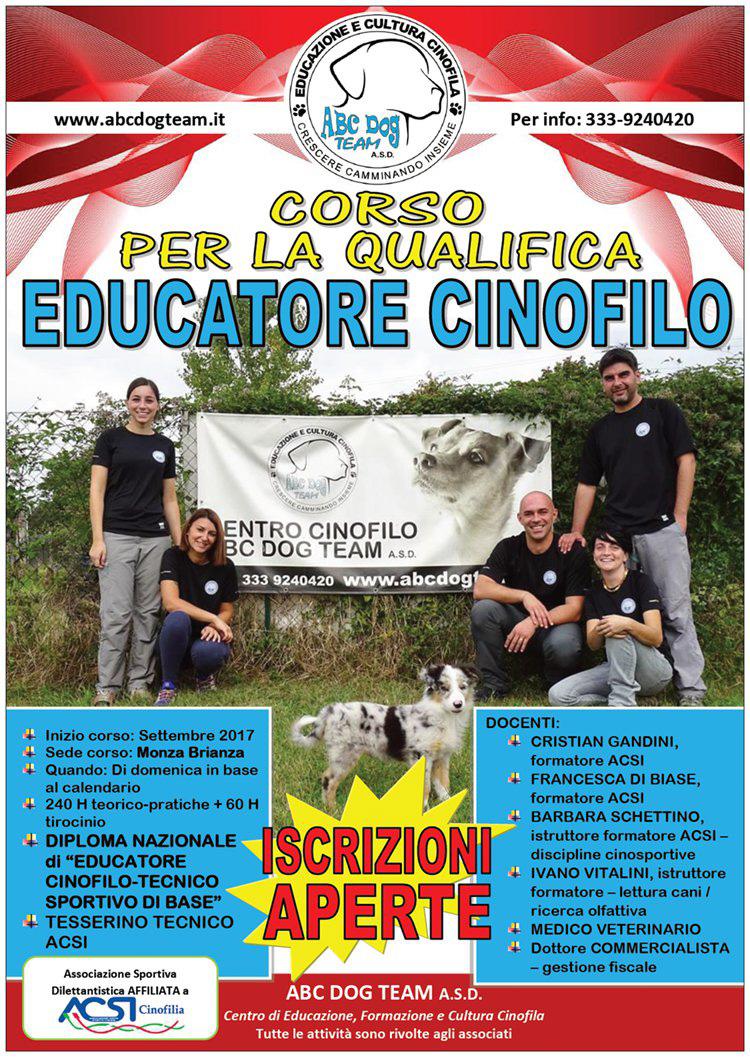 ABC DOG educatore cinofilo 2017