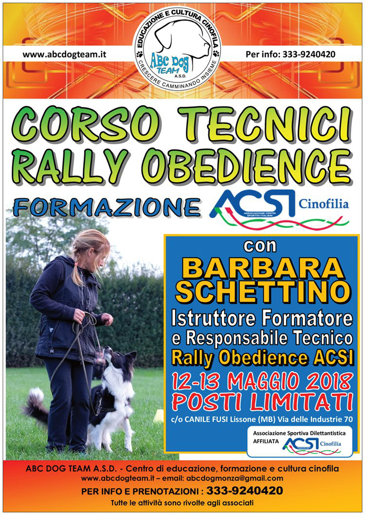 ABC DOG rally obedience 2017