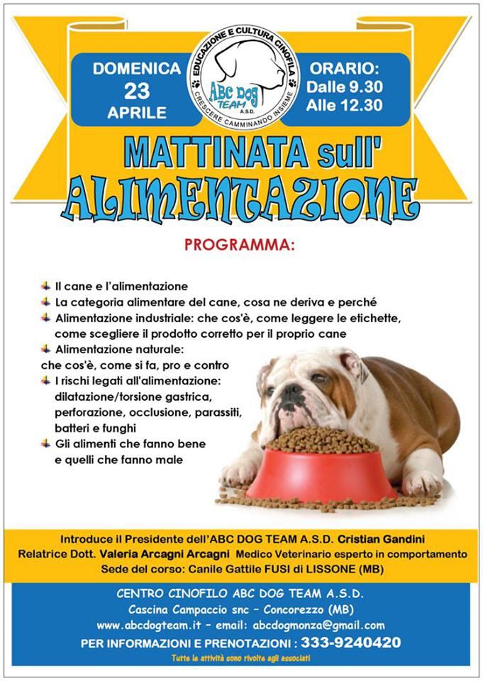 ABC DOG ALIMENTAZIONe CANE aprile 2017