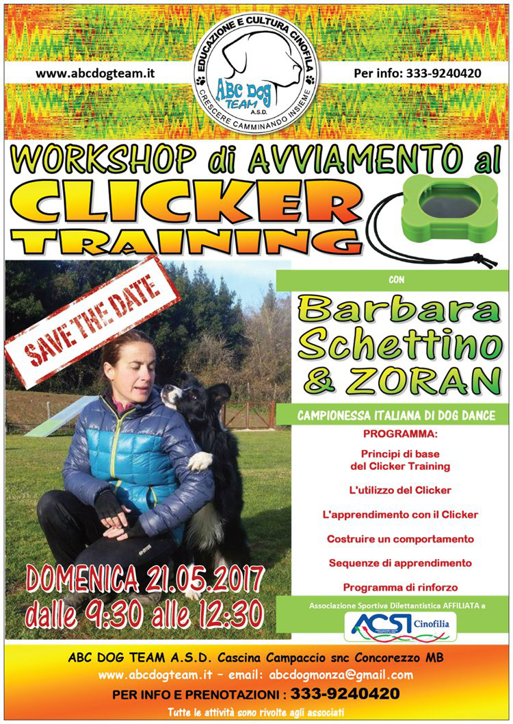 ABC DOG CLICKER TRAINING maggio 2017