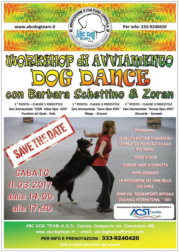 ABC DOG DANCE marzo 2017