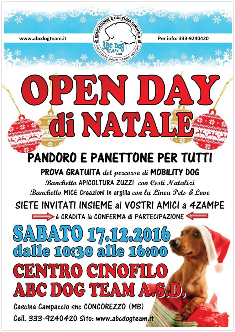 ABC DOG OPEN DAY dicembre 2016