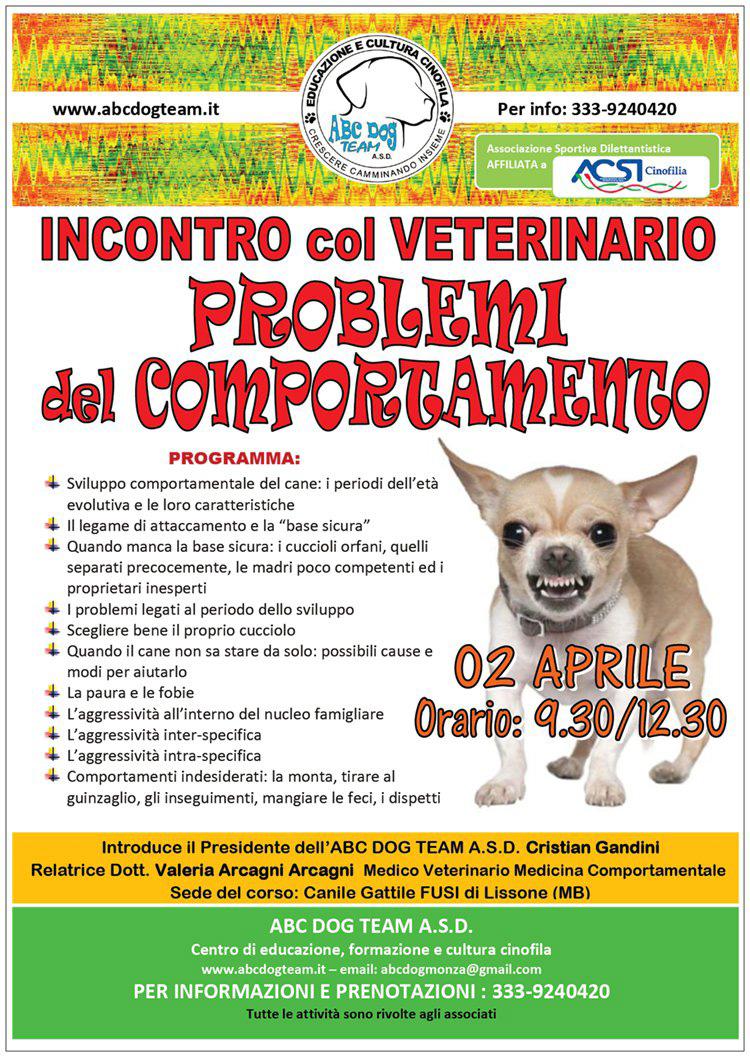 ABC DOG PROBLEMI COMPORTAMENTALI CANE aprile 2017