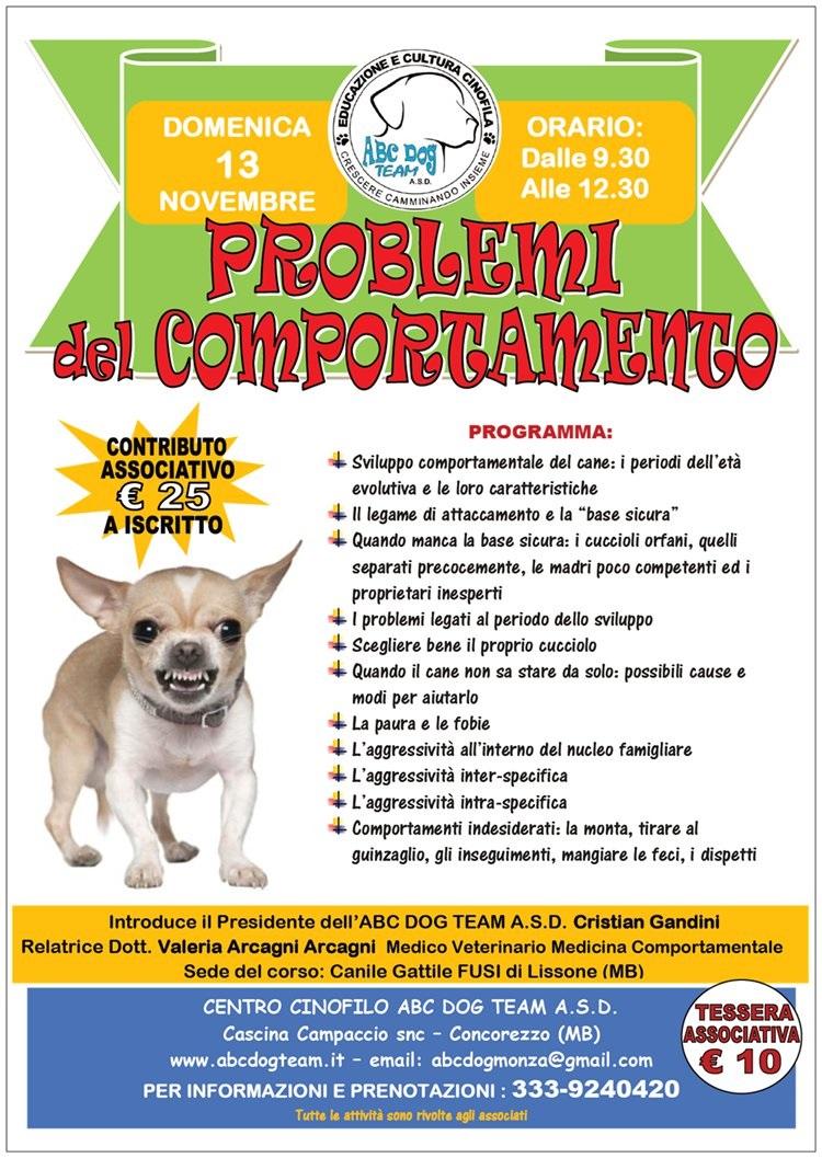 ABC DOG problemi comportamento del cane novembre 2016