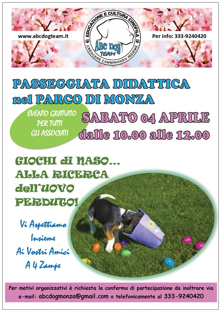 ABC Dog Passeggiata didattica aprile 2015