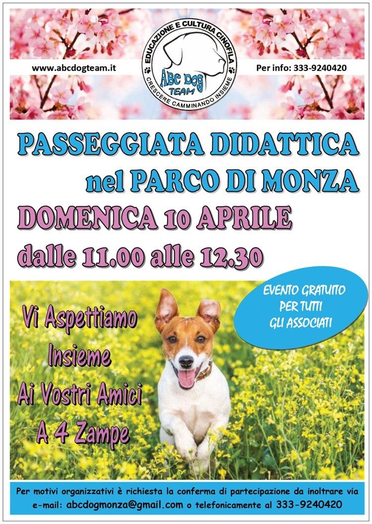 ABC Dog passeggiata didattica aprile 2016