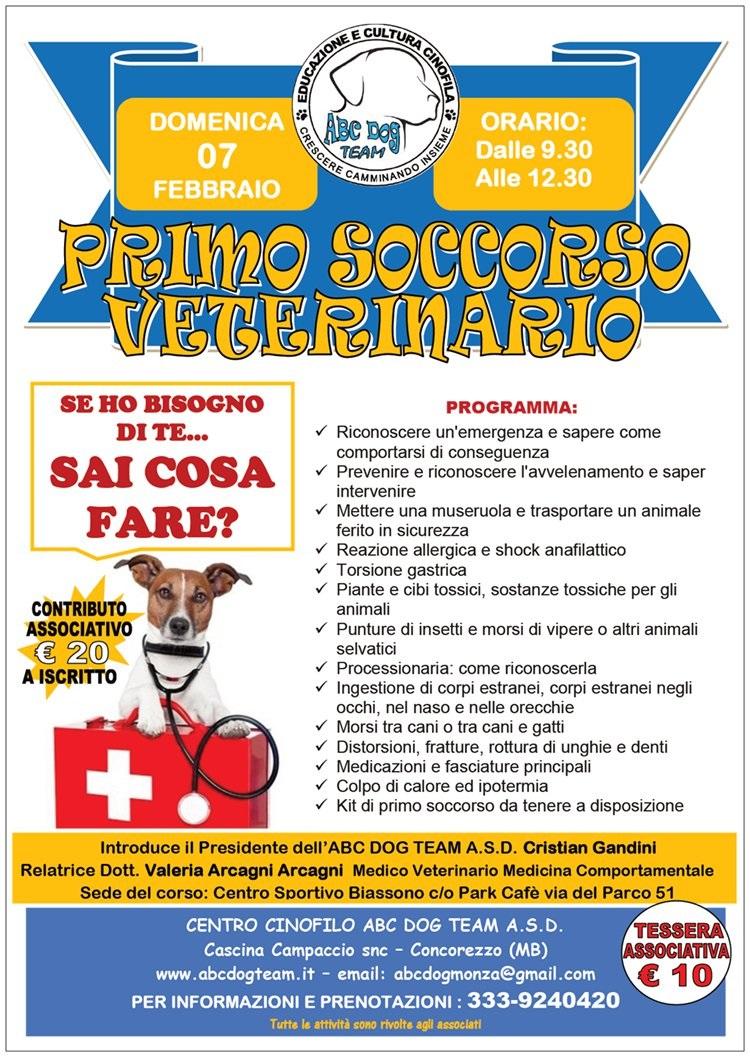 ABC Dog primo soccorso veterinario febbraio 2016