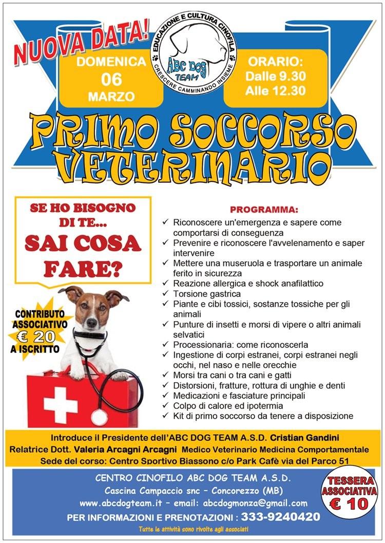 ABC Dog primo soccorso veterinario marzo 2016