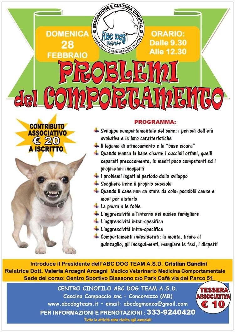 ABC Dog problemi comportamentali febbraio 2016