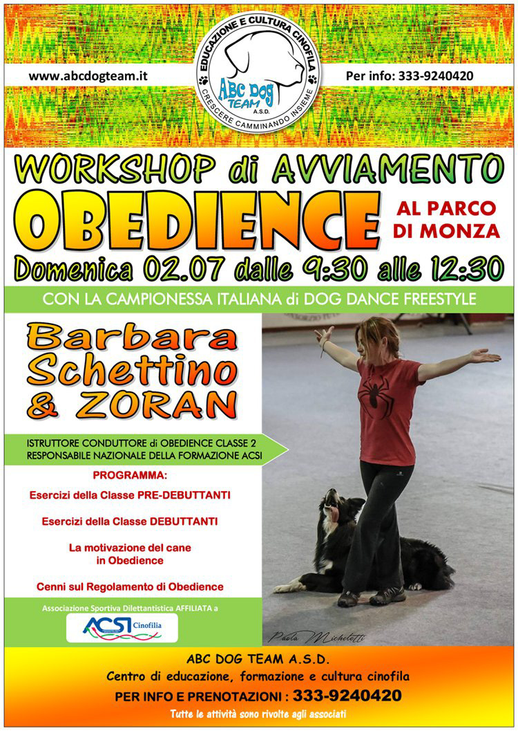 ABC Dog rally obedience luglio 2017