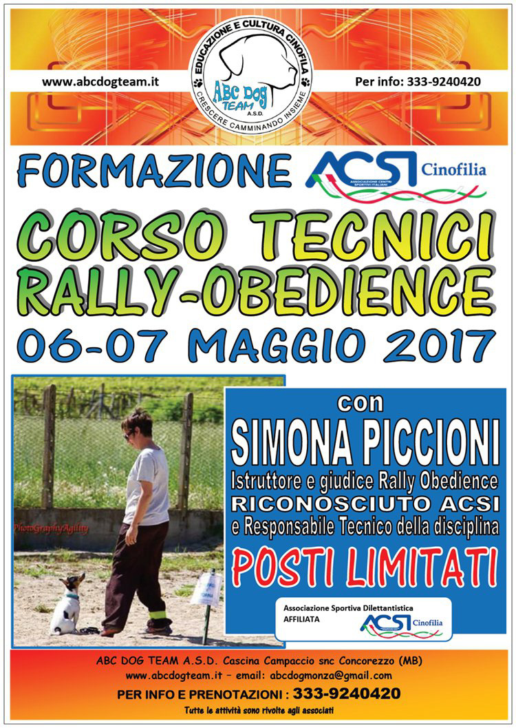 ABC Dog rally obedience maggio 2017