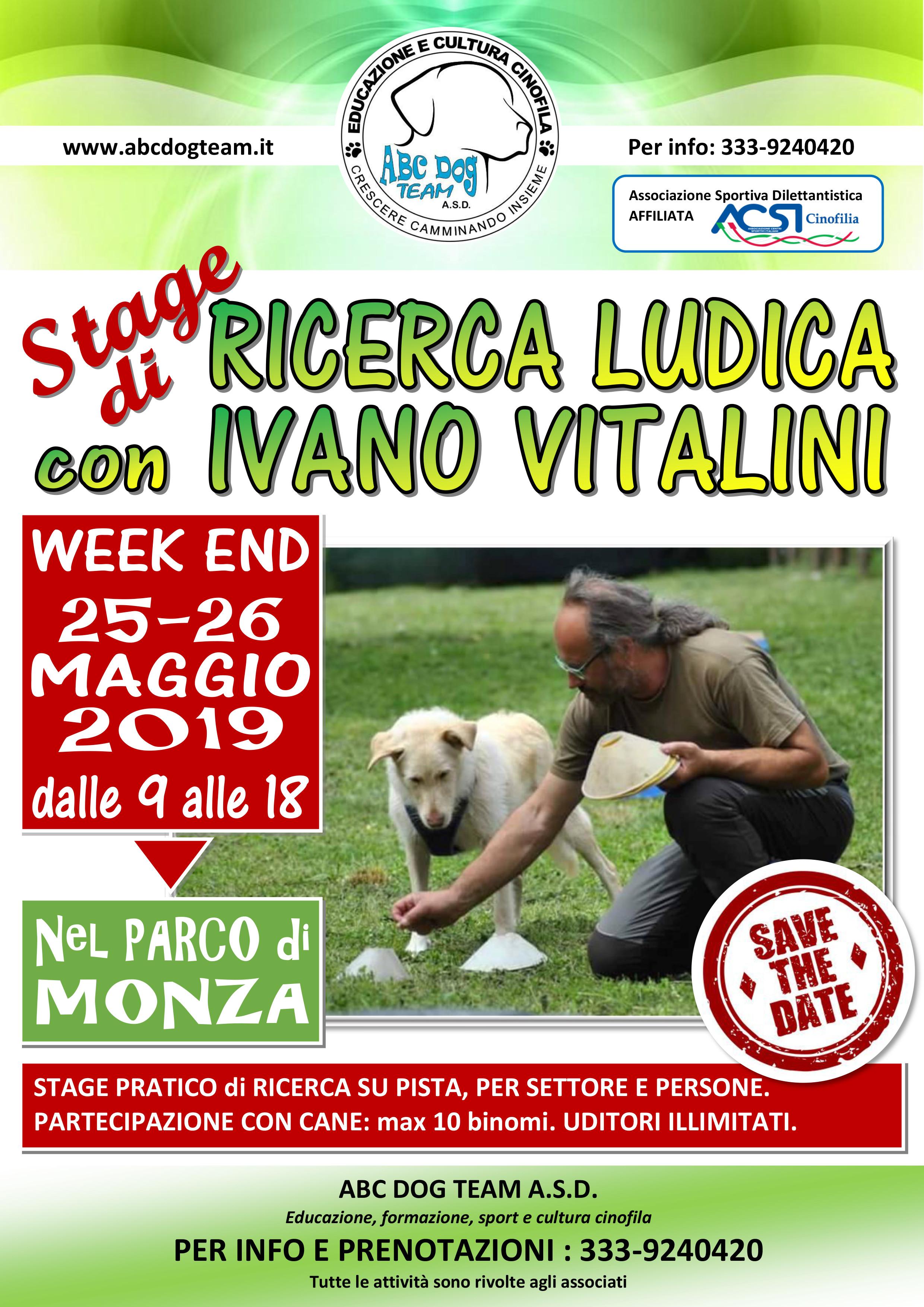 Locandina Stage RICERCA LUDICA I.VITALINI