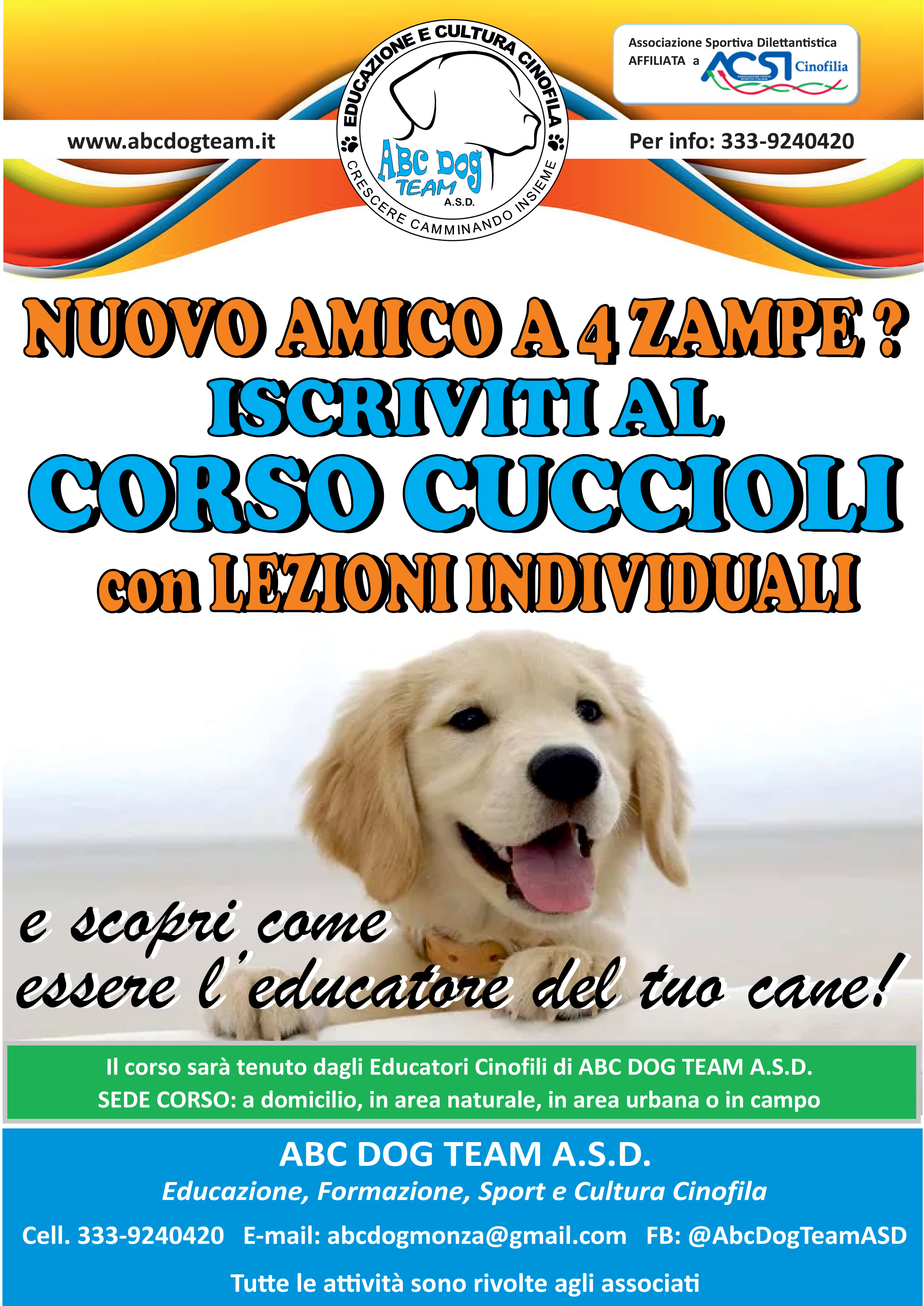 locandina corso cuccioli 2019