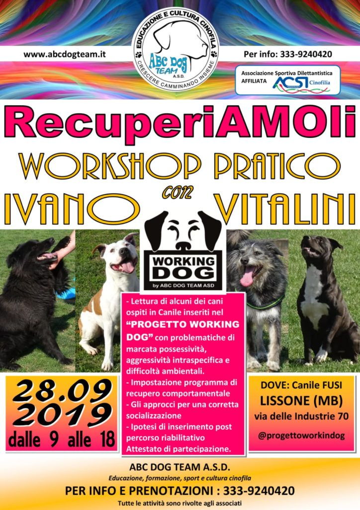 ABC DOG Team_Recuperiamoli_28092019