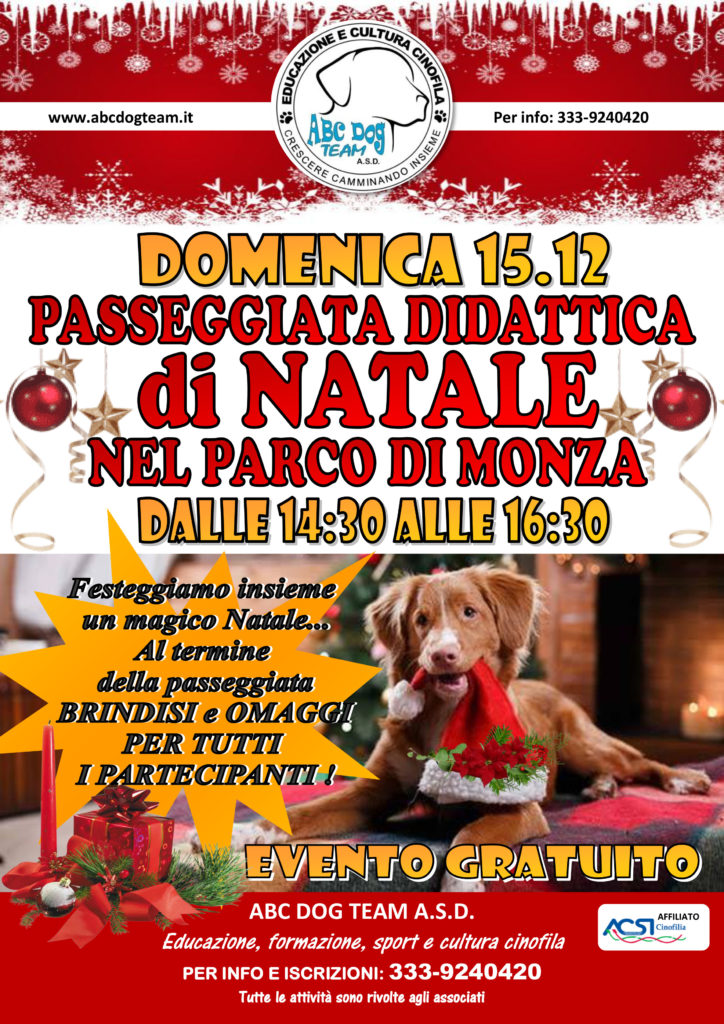 Abc Dog Team Passeggiata di Natale Monza 2019