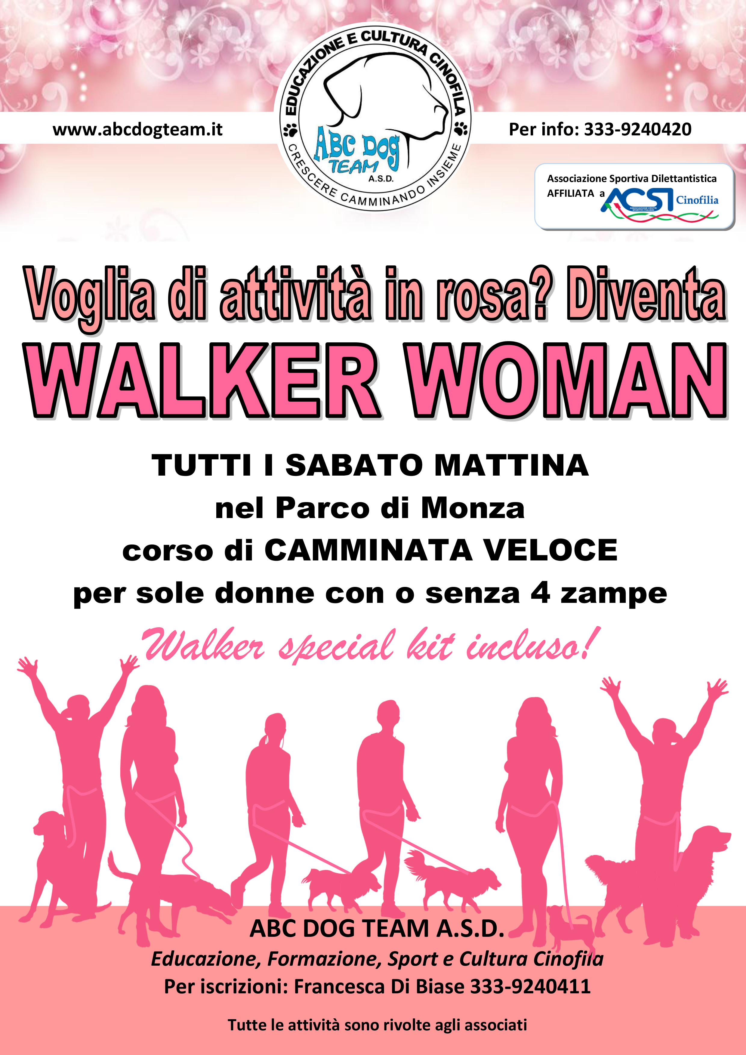 ABC DOG TEAM WALKER WOMAN ACTIVITY MONZA
