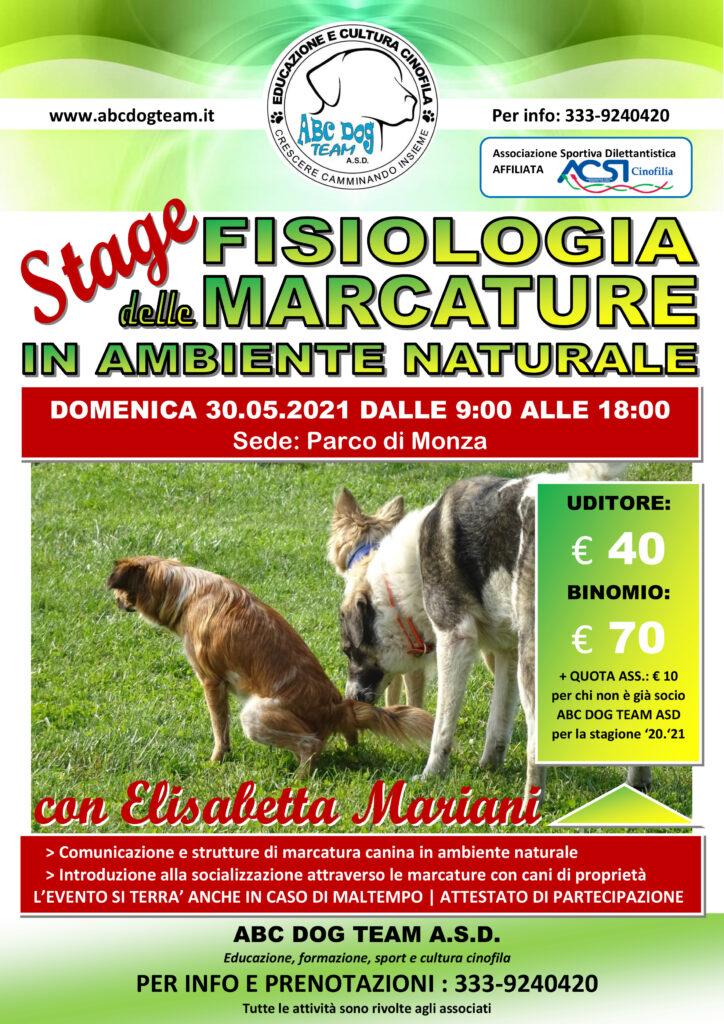 ABC DOG TEAM FISIOLOGIA DELLE MARCATURE MONZA